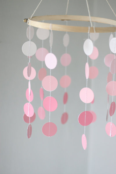 how to make an easy and stylish paint chip mobile for your