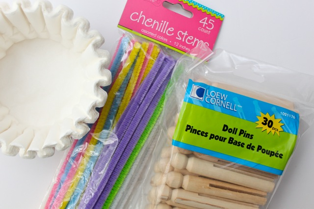 how to make clothespin butterflies with coffee filters